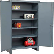 "Global Industrial™ 12 Gauge Heavy Duty 48"" W x 24"" D x 78"" H Cabinet, Gray"