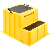 "2 Step Nestable Plastic Step Stand - Yellow 26""W x 33""D x 20""H - NST-2 YEL"