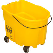 Rubbermaid WaveBrake® 2.0 Mop Bucket with Caster Kit, 35 Qt. - FG757088YEL - Pkg Qty 4