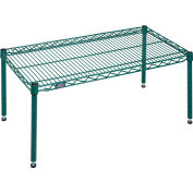 """Nexel® Poly-Green™ Wire Dunnage Rack - 36""""W x 18""""D x 14""""H"""