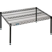 "Nexel® Black Epoxy Wire Dunnage Rack - 36""W x 24""D x 14""H"