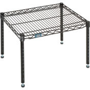 "Nexel® Black Epoxy Wire Dunnage Rack - 24""W x 18""D x 14""H"