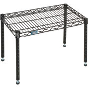 "Nexel® Black Epoxy Wire Dunnage Rack - 30""W x 14""D x 14""H"
