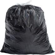 Draw-Tuff® Industrial Drawstring Trash Bags, 32 Gal, Black, 0.8 Mil, 150/Case