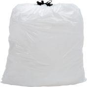Draw-Tuff® Industrial Drawstring Trash Bags, 13 Gal, White, 0.7 Mil, 300/Case