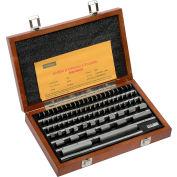 Ensemble de cales étalons Fowler 53 672-081 Shop-Blo, rectangulaire, 81 morceaux