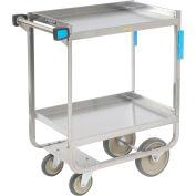 Lakeside® 743 HD Stainless Steel 2 Shelf Cart 38-5/8 x 22-3/8 x 37-1/8 700 Lb Cap