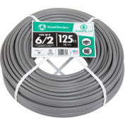 Southwire 21469202 UF-B Underground Feeder Cable, 6/2 AWG, 125 ft