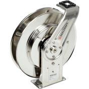 "Reelcraft 7800 OLS 1/2""x50' 500 PSI Stainless Steel Spring Retractable Low Pressure Hose Reel"