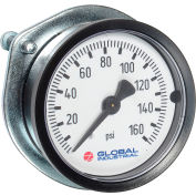 "Global Industrial™ 1.5"" Type 111.16 30PSI Gauge - 1/8"" NPT CBM with U-Clamp Plastic"