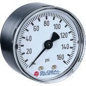 "Global Industrial™ 2.5"" Type 111.12 30PSI/KPA Gauge - 1/4"" NPT CBM Steel"