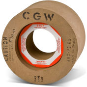 "CGW Abrasives 35249 Calendared Rubber Feed Regulating Wheels 80 Grit 12"" Aluminum Oxide"
