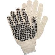 Gants en tricot avec pois en PVC, pois en PVC sur 1 côté, Memphis Glove 9650LM, 12 paires