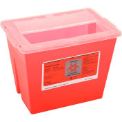 "2-Gallon Multi-Purpose Sharps Container, 11-5/8""W x 7-3/4""D x 8-5/8""H, Red"