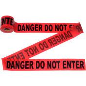 """300' X 3"""" Red """"Danger Do Not Enter"""" Tape, 1 Roll"""