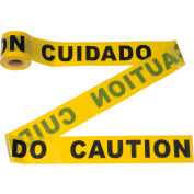 "300' x 3"" Yellow ""CAUTION - CUIDADO"" Tape, 1 Roll"