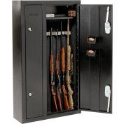 """HOMAK 8 canons doubles portes en acier de sécurité Gun Safe HS30136028 - 32 """"x 10"""" x 57 """", noir"""