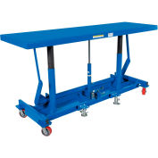 Extra-Long Deck Mobile Work Positioning Lift Table Cart LDLT-3096