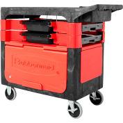 Rubbermaid® 6180-88 métiers noirs panier avec verrouillage du Cabinet