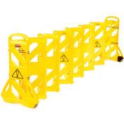 Rubbermaid® Extendable Mobile Barrier, FG9S1100YEL