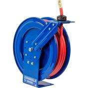 """Spring Rewind Hose Reel For Air/Water: 1/2"""" I.D., 50' Hose, 300 PSI"""