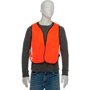 Hi-Vis Safety Vest Orange, One Size Fits All