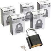 Cadenas à combinaison modifiableMaster Lock® n<sup>o</sup> 178BLK, bas, qté par paquet : 6