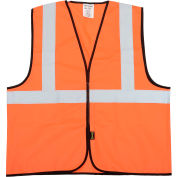 OccuNomix Class 2 Solid Vest Hi-Vis Orange L/XL, ECO-G-OL/XL
