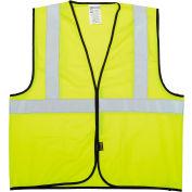 OccuNomix Class 2 Solid Vest Hi-Vis Yellow L/XL, ECO-G-YL/XL