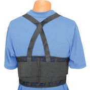 "Standard Back Support Belt, Adjustable Suspenders, Medium, 32-38"" Waist Size"