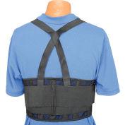 Ceinture de soutien dorsal standard, bretelles ajustables, moyen, ceinture de32 à 38 po
