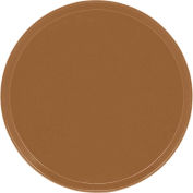"""Cambro 1550508 - Camtray 15.5"""" Round Low,  Suede Brown - Pkg Qty 12"""