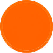 "Cambro 1950220 - Camtray 19.5"" Round Low,  Citrus Orange - Pkg Qty 12"
