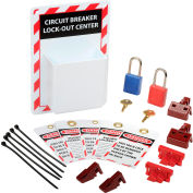 Circuit Breaker Lockout Center with Supplies