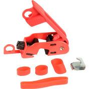Verrou de disjoncteurMaster Lock®Grip Tight, convient aux commutateurs de hauteur standard et enpince à cravate