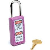 Master Lock® Safety 411 Series Zenex™ Thermoplastic Padlock, Purple, 411PRP