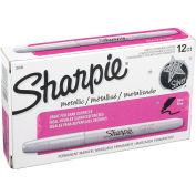 Sharpie® Marqueur permanent métallique, Fine, Encre d'argent métallisé, qté par paquet : 12