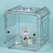 "Bel-Art Clear View Polycarbonate Fume Hood 500201010, Single Exhaust, 25-7/8""W x 24""D x 26-1/8""H"