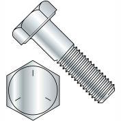 "Hex Cap Screw - 1/4-20 x 1"" - Carbon Steel - Zinc - Gr 5 - FT - UNC - USA - Pkg of 100 - BBI 457010"