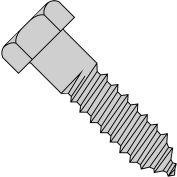 """Hexagonale tirefond - 5/16-9 x 2 """"- acier bas carbone - Zinc CR + 3 - paquet de 100 - Brighton-Best 486226"""