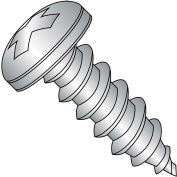 """Self Tapping Screw - #10 x 1/2"""" - Phillips Pan Head - Type A - FT - 18-8 (A2) SS - Pkg of 1000"""