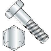 Vis d'assemblage à tête hexagonale, 5/16-18 x 3 po, acier au carbone, zinc CR+3, calibre 5, FT, UNC, paquet de 100, BBI 847094