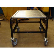 "BestFlex™ Rigid Impact Conveyor Cart RIC2436PW-36HT - 24"" Width - 36""L Steel Rollers 200 Lb/ft"