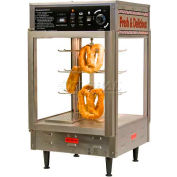 "Benchmark 12"" Pizza/Pretzel Display Warmer, Humidified, 2-Door, Rotating, 3 Tier - 51012"