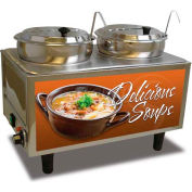 Benchmark USA 51072-S,  Dual 7 Qt. Soup Station , 120 Volt