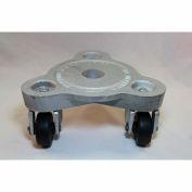 Bond® en fonte triangulaire Dolly 2076 - roues en caoutchouc de bande de roulement dur - 525 lb capacité