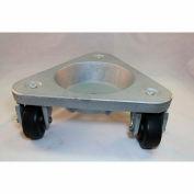 Bond® en fonte coupe triangulaire Dolly 3310 - roues en caoutchouc de bande de roulement dur - 630 lb capacité