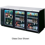 "Solid Door Back Bar Refrigerator 23"" Base BB Series, 72""W - BB72HC-1-B-27"