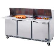 """Tables de préparation de nourriture SPE72 Elite Series coupe dessus, 72"""" W - SPE72HC - 18C"""