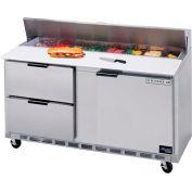 """Préparation de nourriture Tables SPED60 Elite Series Standard Top w / tiroirs, 60"""" W - SPED60HC-16-4"""